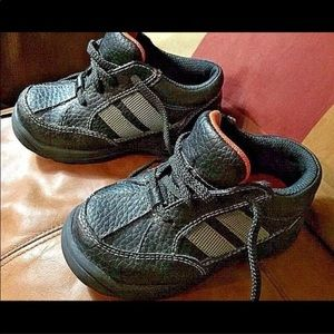 Fisher-Price black skid resist lace baby shoes 7